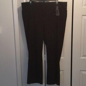 Lane Bryant Dress Pants Black/Red Pinstripe 26 NEW